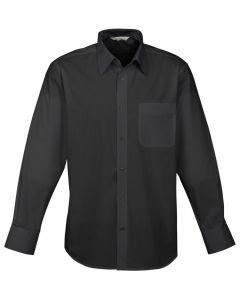 Mens Business Shirt L/S - BLACK