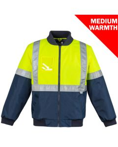 Taped Flying Jacket - YELLOW NAVY