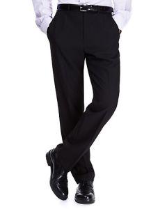 Mens Flat Front Pants - BLACK