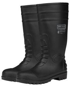 Steel Toe Cap & Plate Gumboots - BLACK