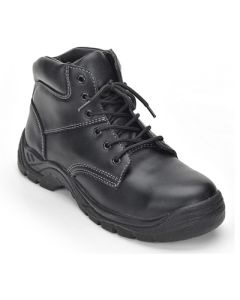Lace Up Safety Boots - BLACK