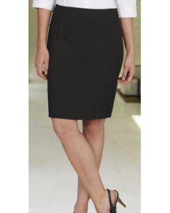 Knee Length Skirt - BLACK