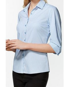Ladies 3/4 Sleeve Shirt - BLUE