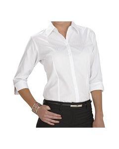Ladies 3/4 Sleeve Shirt - WHITE