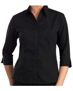 Ladies 3/4 Sleeve Shirt - BLACK