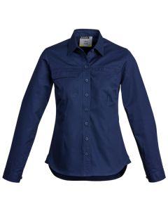 Ladies Drill Shirt L/S - NAVY