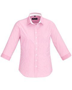 Ladies 3/4 Sleeve Shirt - MELON