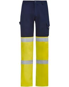 Hi Vis Taped Drill Pants - YELLOW NAVY